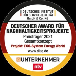 Deutscher Award für Nachhaltigkeitsprojekte